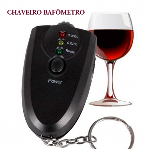 Brindes eletrônicos personalizados - CHAVEIRO BAFÔMETRO