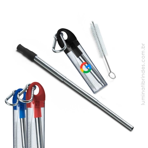 - Canudo Inox Retrátil Carabiner