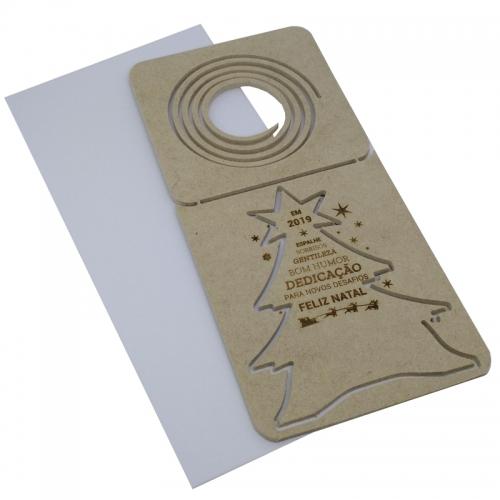 - Cartão postal de natal 3D - modelo Espiral