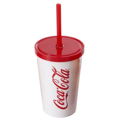 Copos personalizado, Canecas personalizada, Long drink personalizado - Copo 550 com tampa e canudo