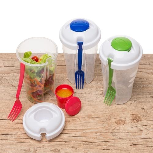- Copo Salada 850ml com Garfo e Suporte para Molho