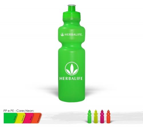 Garrafa personalizada - Squeeze 750ml Resistente e Flexível com Bico de PVC Cristal