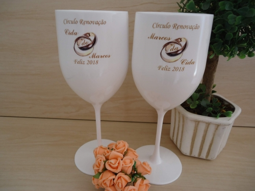 - Taça Vinho 400ml Brinde Empresarial Hotel Escola Formatura Eventos Festas Casamento