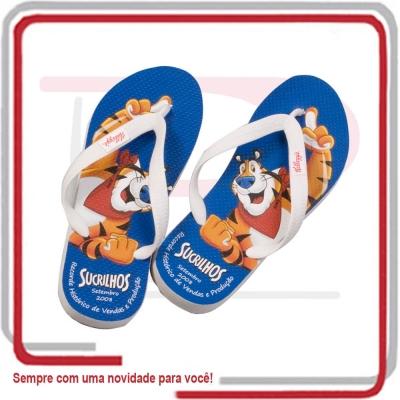 Chinelos Personalizados, Chinelos Customizados - Sandália Unissex Logo Cromia nas Palmilhas