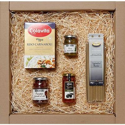 cestas de presente, cestas de natal - Kit Gourmet Italiano Especial
