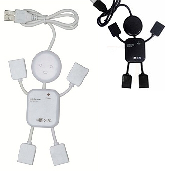 Brindes eletrônicos personalizados - Hub Plástico Formato Boneco