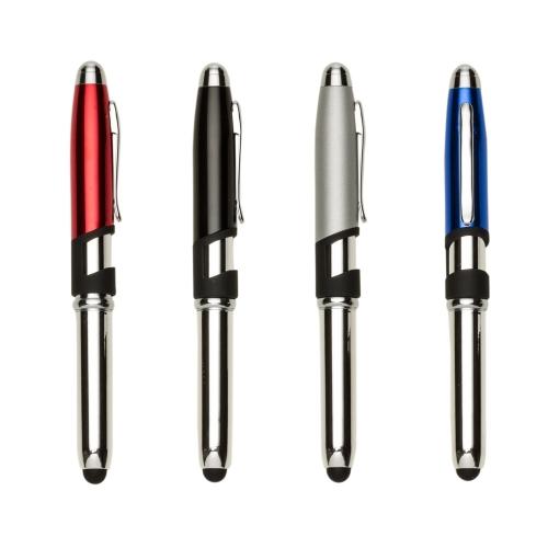 caneta personalizada - Mini Caneta Semimetal Touch com Suporte