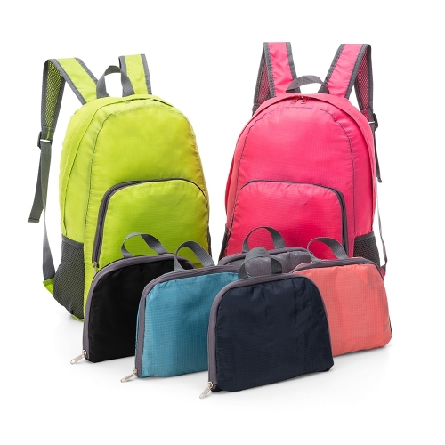 Mochilas personalizadas, mochilas femininas, mochila masculina, mochila para notebook   - Mochila de Nylon Dobrável