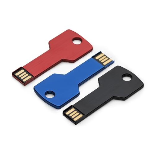 Pen drive alumínio formato chave 4GB