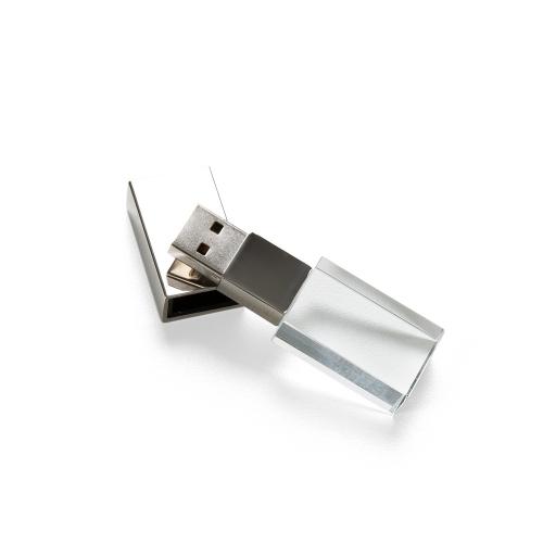 Pen drive personalizado, pen card personalizado, brindes para informática - Pen Drive Vidro 4GB