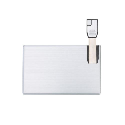 Pen drive personalizado, pen card personalizado, brindes para informática - Pen Card 4GB Alumínio