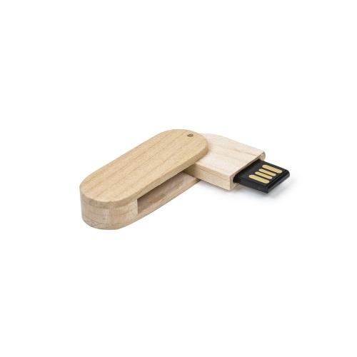 Pen drive personalizado, pen card personalizado, brindes para informática - Pen Drive 4GB Bambu Giratório