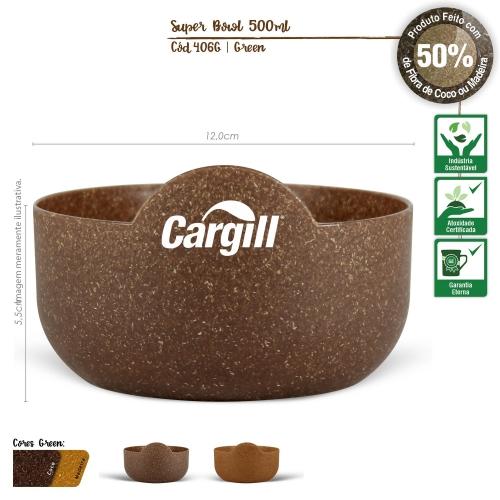 Petisqueira Super 500ml de fibras da casca do coco ou de resíduos de madeira
