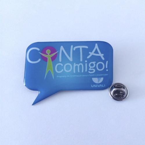 Pin personalizado, Bottom personalizado - Pin foto corrosão