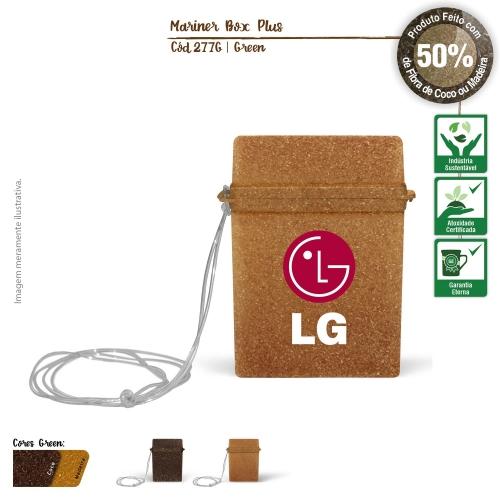 - Porta Cartões e Documentos Ecológico de fibras da casca do coco ou de resíduos de madeira
