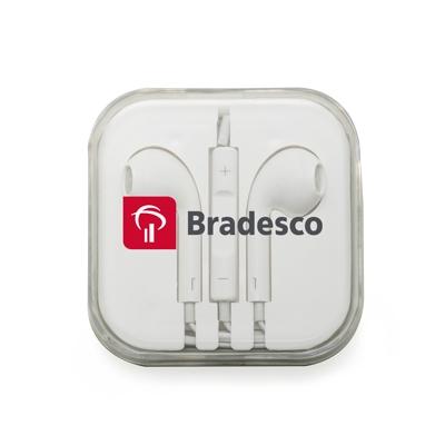 Brindes eletrônicos personalizados - FONE DE OUVIDO COM MICROFONE