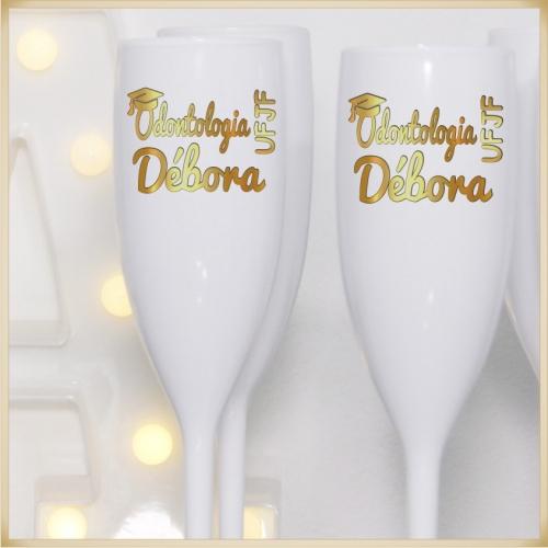 - Taça Personalizada para baile de formatura coquetel de formandos e cursos
