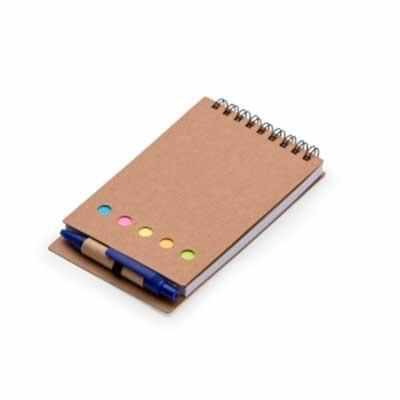 Bloco de Anotações com Caneta e Sticky notes Personalizado
