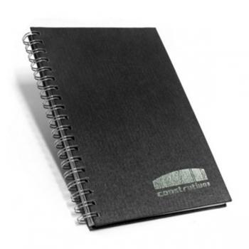 Cadernos personalizados, caderno customizados, capas de cadernos personalizadas - Caderno Escovado Preto 17×24 cm