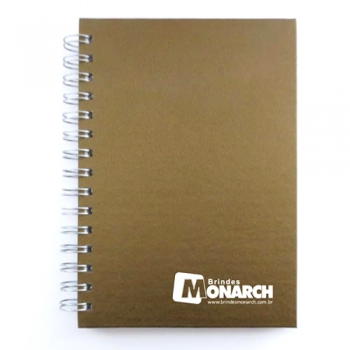 caderno perolizado dourado 14x20 CM