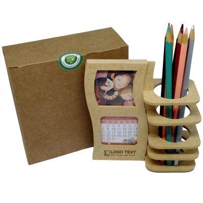 - Porta Lápis e Calendário de mesa Película