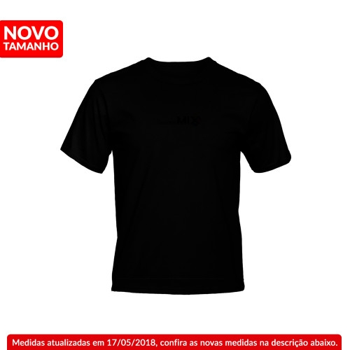 Camiseta Preta 100% Poliester