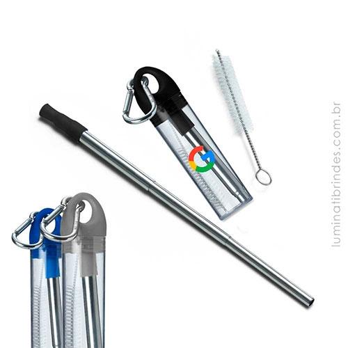 - Canudo Inox Carabiner