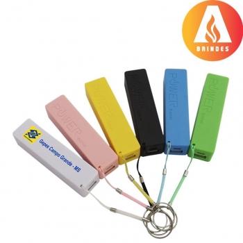 Brindes eletrônicos personalizados - Carregador Portátil - Power Bank