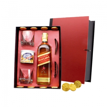 KIT WHISKY ESCOCÊS RED LABEL 8 ANOS
