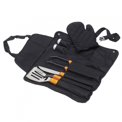 Kit Para Churrasco Avental 6 pçs