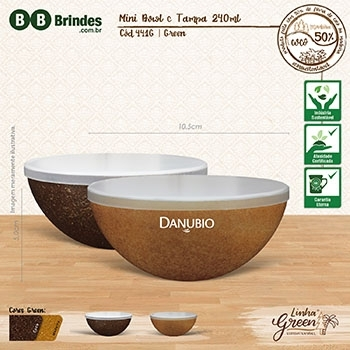 - Mini BOWL Green 240mL com tampa