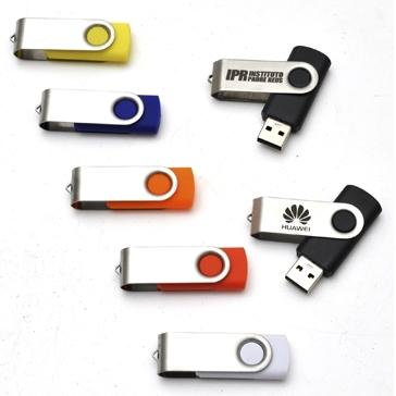 Pen Drive SM Giratório Metal 8GB