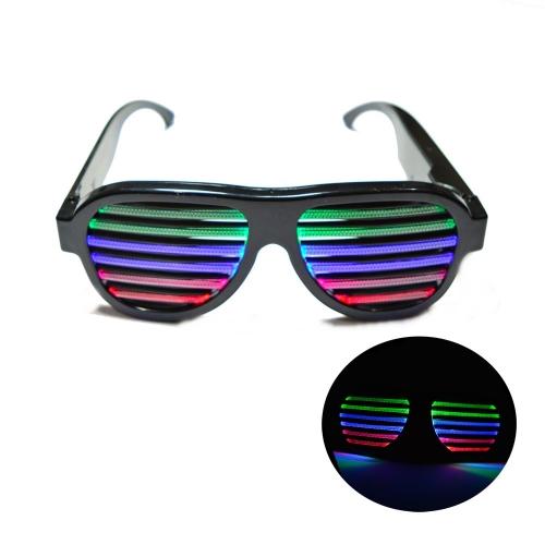 Óculos Aviador LED Equalizador Ativado Por Som - Hutz