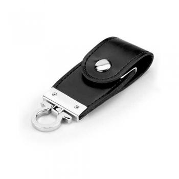 Pen drive personalizado, pen card personalizado, brindes para informática - Pen drive Chaveiro em Couro Personalizado