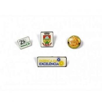 Pin personalizado, Bottom personalizado - Pin Resinado em latão