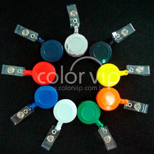 Crachás personalizados, cordões personalizados - Porta Crachá Retratil
