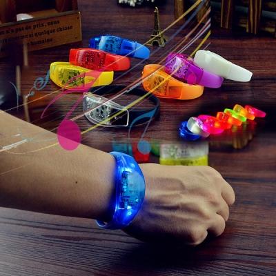 Pulseira LED Ativada por música e som