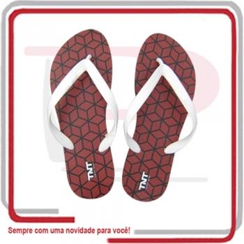 - Sandálias Unissex Logo Traço nas Palmilhas