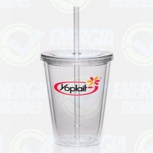 Copos personalizado, Canecas personalizada, Long drink personalizado - Copo de Acrilico Personalizado com Canudo