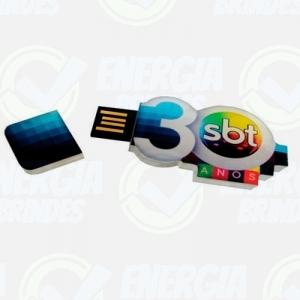 Pen drive personalizado, pen card personalizado, brindes para informática - Pen drive em acrílico 4GB