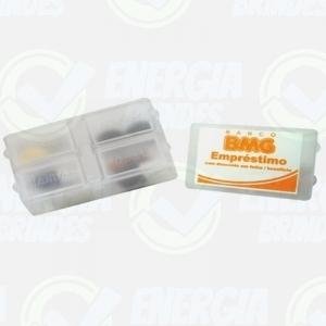 Porta comprimido, porta remédio, porta comprimido mensal, porta remedio - Porta Comprimidos Personalizado