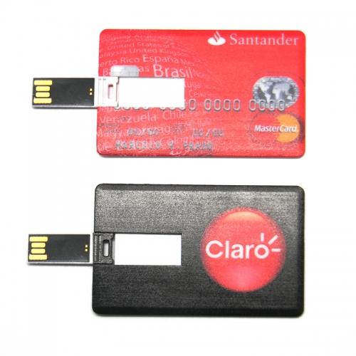 Pen drive personalizado, pen card personalizado, brindes para informática - Pen drive modelo cartão 4gb