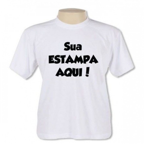Camiseta Branca ou Colorida