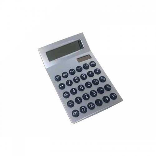 Calculadora plástica prata de 12 dígitos
