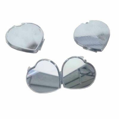 - Espelho Metal Duplo Coração com Aumento