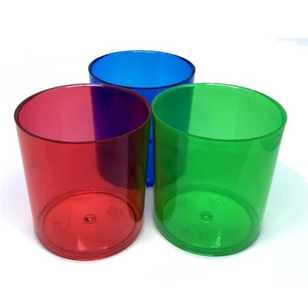 Copo acrílico (PS) para Whisky 300 ml cores diversas sem gravação