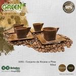 Conjunto Xícara 50mL e Pires GREEN